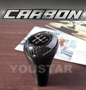 Luxury Handcrafted Manual Shifter Gear Knob Bmw 5 Speed Genuine Carbon