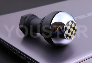 Luxury New Weighted Short Manual Gear Knob For Bmw Mini Cooper S Crome Black