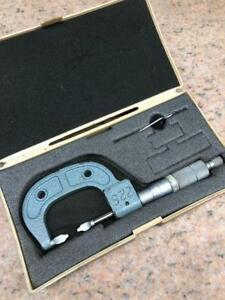 Mitutoyo 122 125 0 1 Mechanical Blade Micrometer With Case
