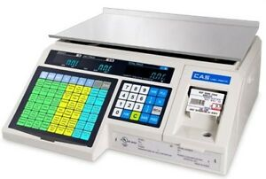 30 X 0 01 Lb Label Printing Scale Cas Grocery Store Market Legal For Trade