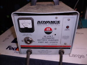 Used Advance Machine Company 36 Volts Auto Battery Charger 372974 Model 12050