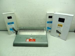 Gbc General Binding Corporation Model 12 d Binding Machine New Plastic Combs