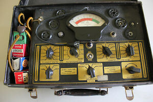 Vintage Dial Junior 415 Tube Tester Powers On needle Lines Charts And Notes