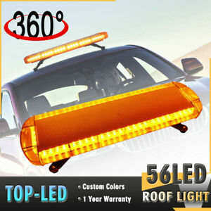 56 Led 30 Amber Yellow Car Tow Truck Emergency Beacon Warning Strobe Roof Light