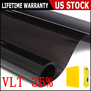 20 X 20ft 35 Vlt Black Car Home Glass Window Tint Tinting Film Roll Us Sales
