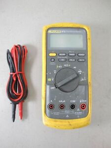 Fluke 87v Industrial Electrician Hvac r Technician Multimeter W Leads