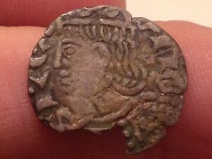 Rare Spain King John I Silver Medieval Coin With Face On Front See Scans Val