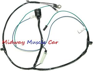 6 Cylinder Engine Wiring Harness Chevy Pickup Truck Suburban 60 61 62