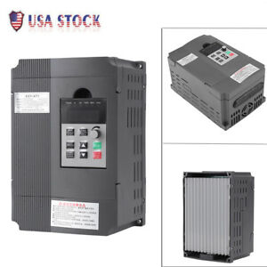 220v 2 2kw Single Phase 3ph Variable Frequency Drive Vfd Speed Controller Motor