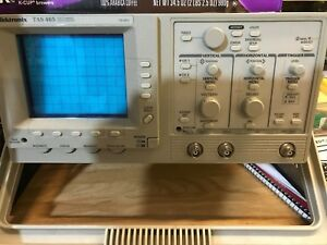 Tek Tas465 Calibrated With Probes 100mhz Analog Oscilloscope Digital Readouts