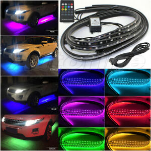Rgb App Led Strip Underbody Glow System Under Tube Neon Light With Extension Car