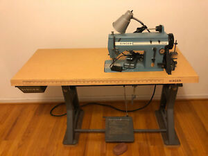Singer Single Needle 20 13 Sewing Machine Used With Singer Table