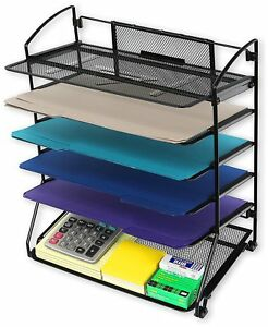 Desk Organizer Tray Letter Document File Paper Holder Office Table Stackable New