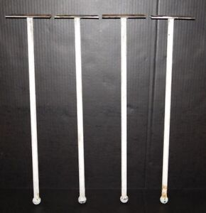 Set Of 4 Antique Single Rod 22 5 Hairpin Cast Iron Table Desk Legs Industrial