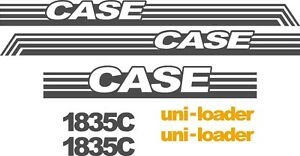 Case 1835c Replacement Decals Sticker Decal Kit Ns