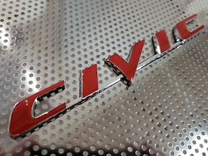 Civic For Honda Rear Trunk Emblem Letters Logo Badge Sedan Coupe 20891234567