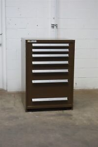 Used Vidmar 7 Drawer Cabinet 44 Inch Tall Industrial Tool Storage 1443