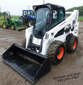 2014 Bobcat S770 Skid Steer Loader Cab heat ac High flow Quick Attach 92hp