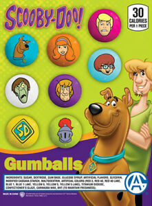 Bulk Gumball Candy Vending Machine 225pcs 1 Scooby doo Bubble Gum Balls