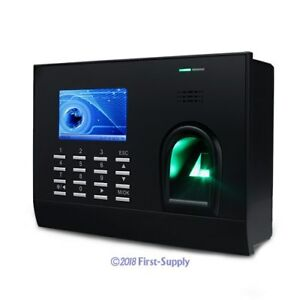 New Biometric Fingerprint Id Card Attendance Time Clock tcp ip free Software