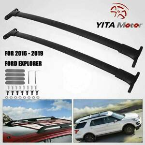 For 16 18 Ford Explorer Oe Style Aluminum Roof Rack Cross Bar Luggage Carrier