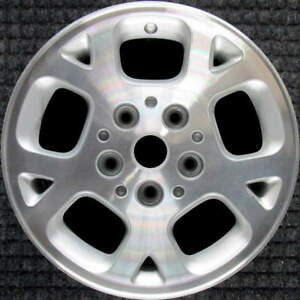 Jeep Grand Cherokee Machined W Silver Pockets 16 Inch Oem Wheel 1999 2003 5ez