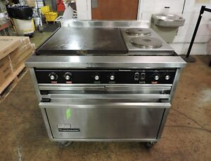 Toastmaster Ra36c2r Commercial Range W Hot Plates Round Hot Tops
