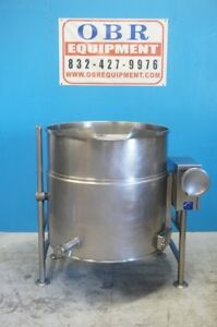 Cleveland Electric 100 Gallon 2 3 Tilt Kettle Self Contained Model Kel 100t