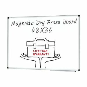 Magnetic Dry Erase Board 48 X 36 Inches White