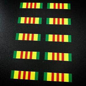 Vietnam Ribbon 10 Pack Stickers