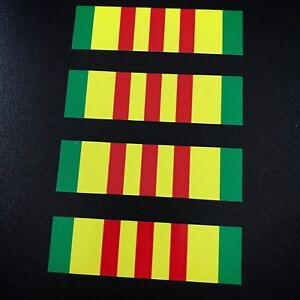 Vietnam Ribbon 4 Pack Stickers