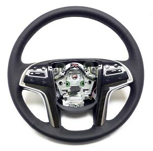 2015 To 2019 Cadillac Escalade Steering Wheel Black Lather Stitches 23360992