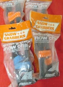 Snow Grabber Emergency Chains Set Of Four Packages New