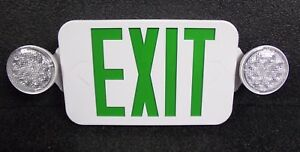 Hubbell Lighting Led Exit Sign W Emergency Lights 32wu23 m