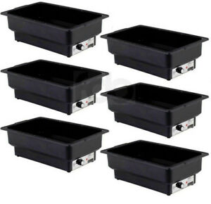 6 Pack Electric Chafer Chafing Dish Steam Full Food Pan Table Warmer Buffet