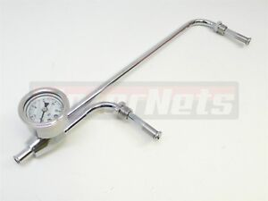 Holley Quad 4150 Double Dual Feed Fuel Line 0 15 Psi Liquid Oil Fill Gauge Sbc
