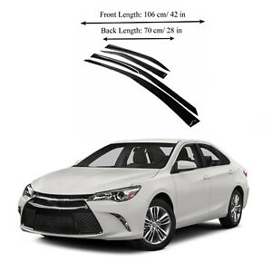 Toyota Camry 12 17 Side Window Vent Visor Sun Rain Deflector Guard 4 Pieces