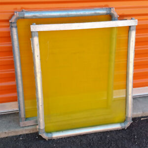 Pair 2 Newman Roller Frames Mzx 23x26 Od With 200 Mesh Screen Printing M3