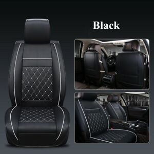 Universal Car Seat Covers Mat Full Seat Pu Leather Cushion Breathable Pad Set