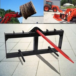 49 Tractor Hay Spear Attachment 3 000 Lb Spike Skid Steer Quick Tach Bobcat