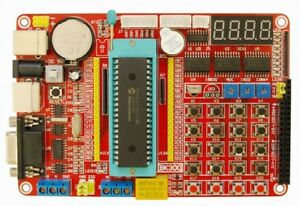 New Pic Development Board Learning Programmer Experiment Microchip Pic16f877a