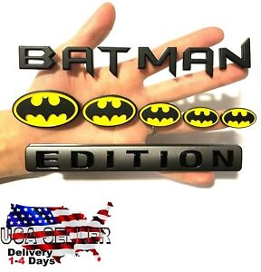Batman Family Edition Exterior Emblem Sedan Truck Trunk Car Logo Decal Letters