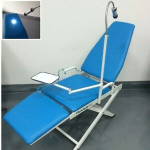 Portable Dental Mobile Chair With Cuspidor Tray Operation Light Clinic Equipment