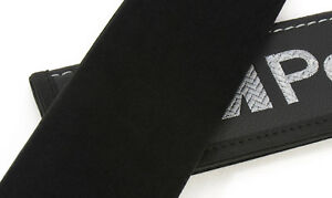 Car Seat Belt Leather Shoulder Pads Covers For Bmw M Power Embroidery
