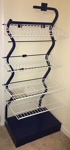 Unique Wavy Blue Metal Retail Commercial Store Display Rack Shelving Make Offer