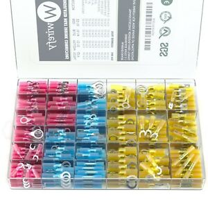 540 Pcs Wirefy Heat Shrink Wire Connectors Marine Auto Electrical Terminals Kit