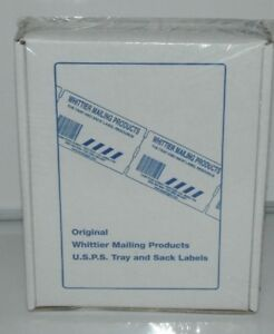 Genuine Whittier Mailing Products Usps Tray Labels Box Of 5000