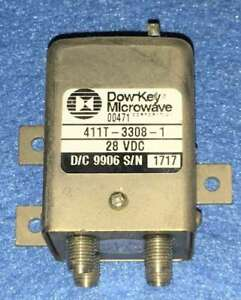 Used Dow key Microwave 411t 3308 1 28 Vdc Sma Female