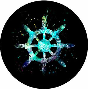 Boat Steering Wheel helm Jeep Wrangler Liberty Rv Trailer Spare Tire Cover
