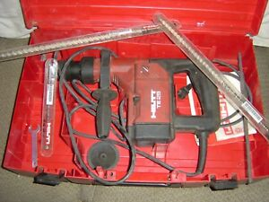 Hilti Te 25 Hammer Drill With Hard Case And Drill Bits